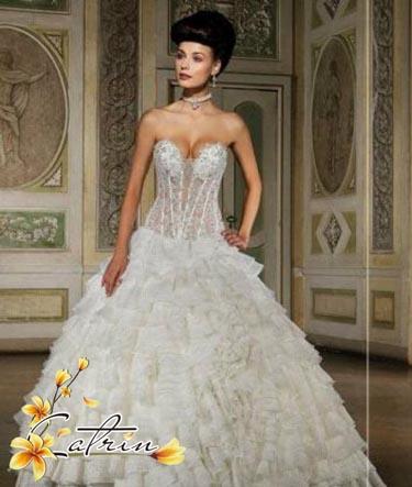Свадебное платье пышное zm0107 2